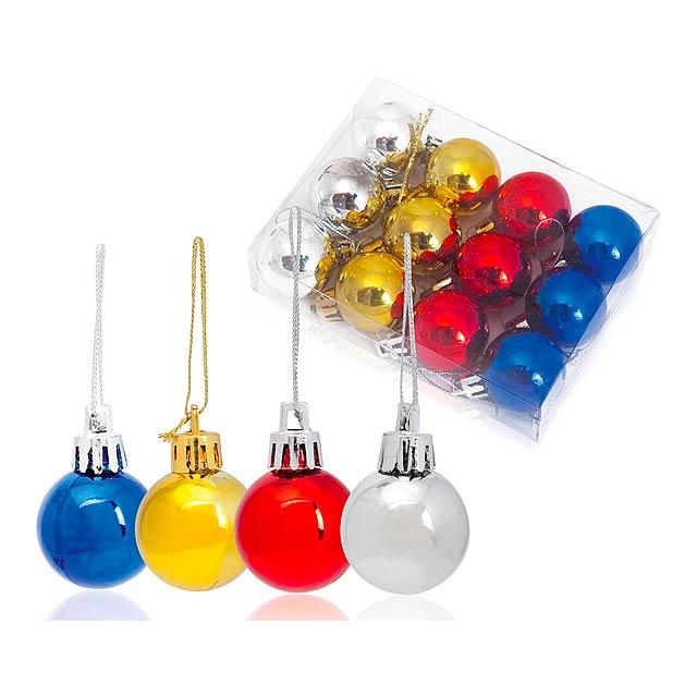 Artball dekorace na vánoční stromek - multicolor