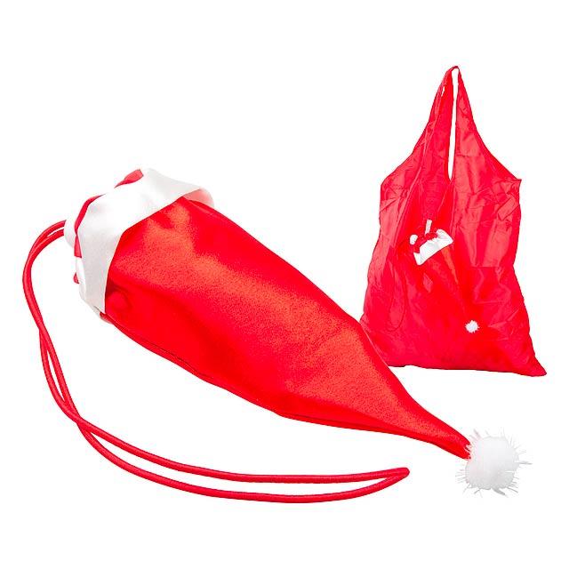 Palmi nákupní vánoční taška - červená