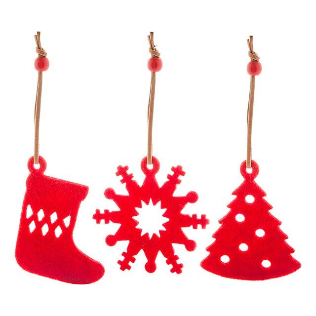 Sensi vánoční ministromek - červená