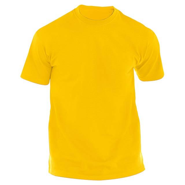 Hecom barevné tričko pro dospělé - žlutá