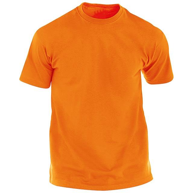 Barevné tričko pro dospělé. 100% bavlna 135 g/m². - oranžová - foto