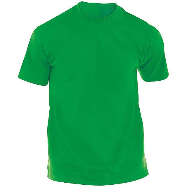 Barevné tričko pro dospělé. 100% bavlna 135 g/m². - zelená - foto