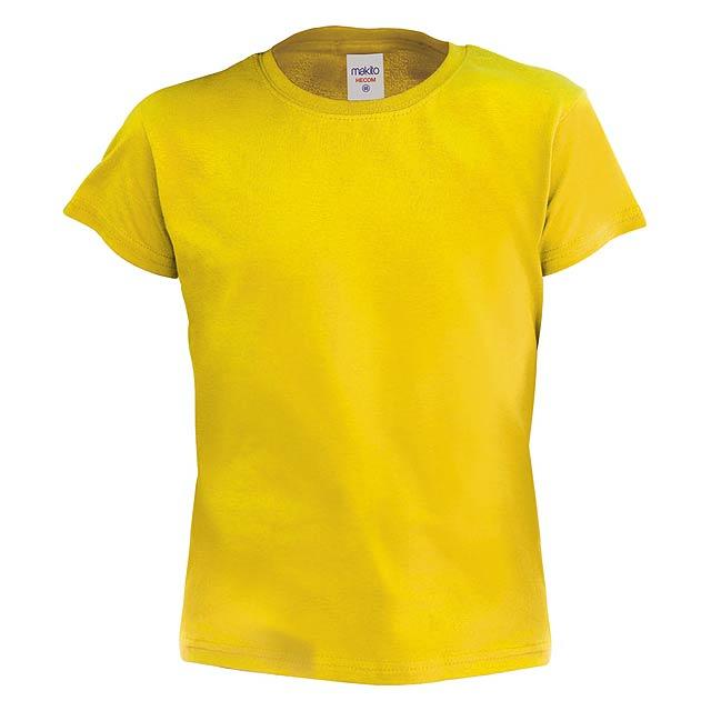 Hecom Kid barevné dětské tričko - žlutá