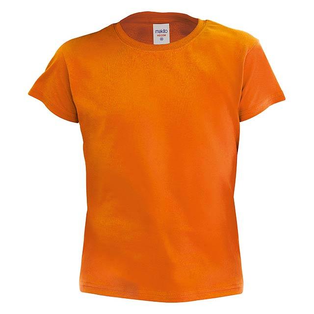 Barevné dětské tričko. 100% bavlna 135 g/m². - oranžová - foto