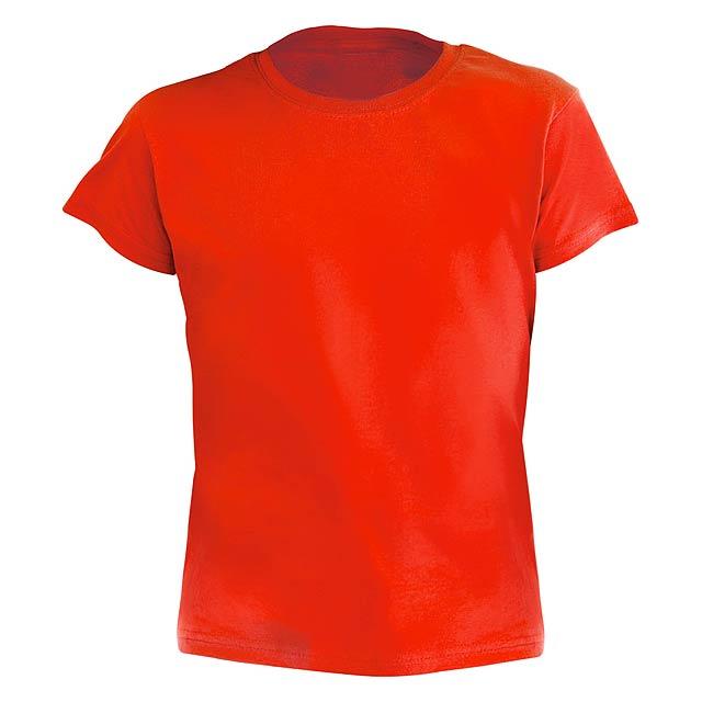 Hecom Kid barevné dětské tričko - červená