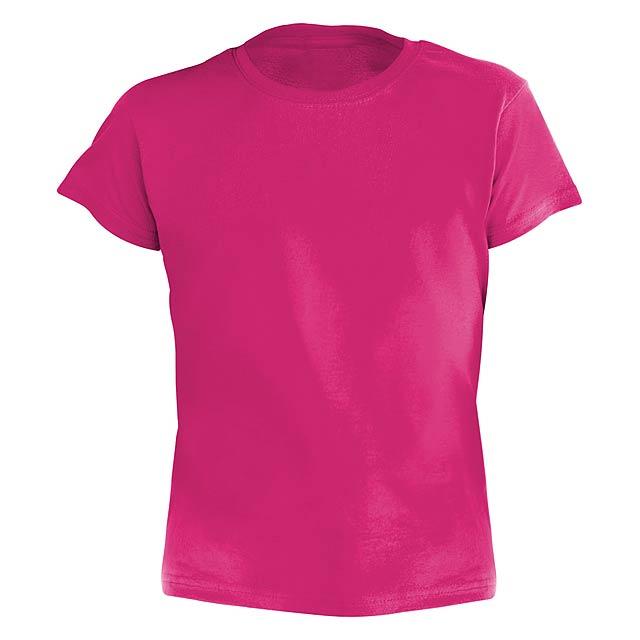 Barevné dětské tričko. 100% bavlna 135 g/m². - růžová - foto