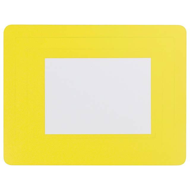 Pictium podložka pod myš s fotorámečkem - žlutá