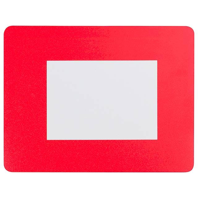 Pictium podložka pod myš s fotorámečkem - červená