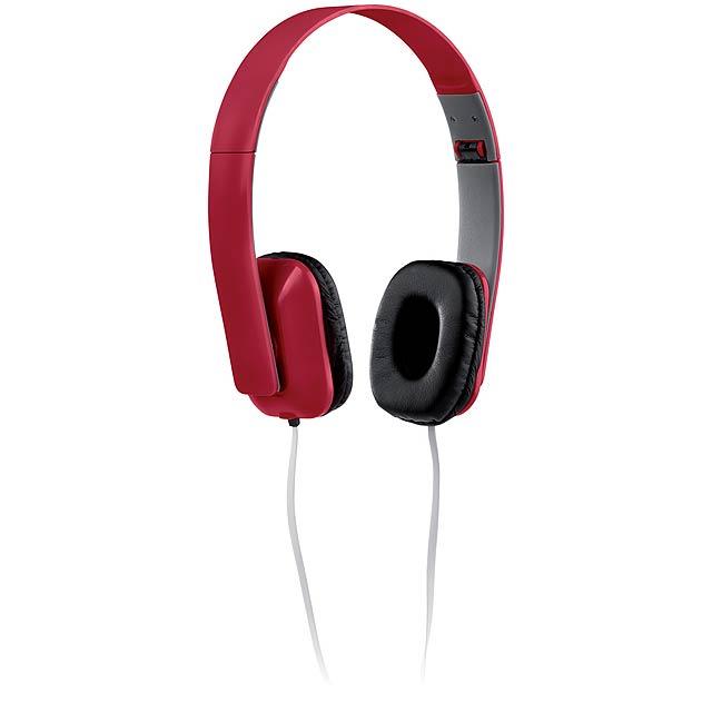 Yomax sluchátka - červená
