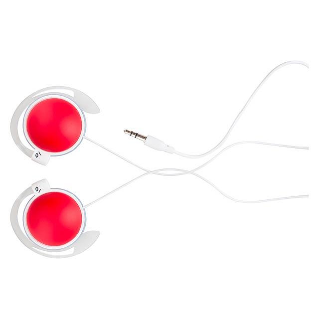 Madox sluchátka - červená