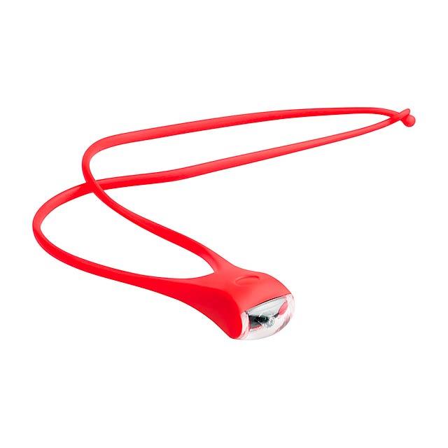 Hozon lanyard se svítilnou - červená