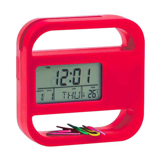 Soret stolní hodiny - červená