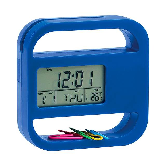 Soret stolní hodiny - modrá