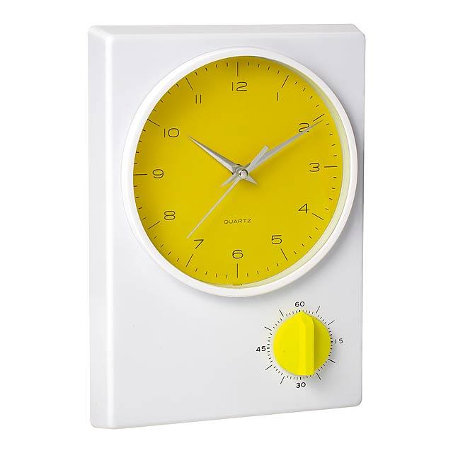 Tekel stolní hodiny - žltá