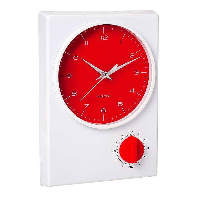 Tekel stolní hodiny - červená