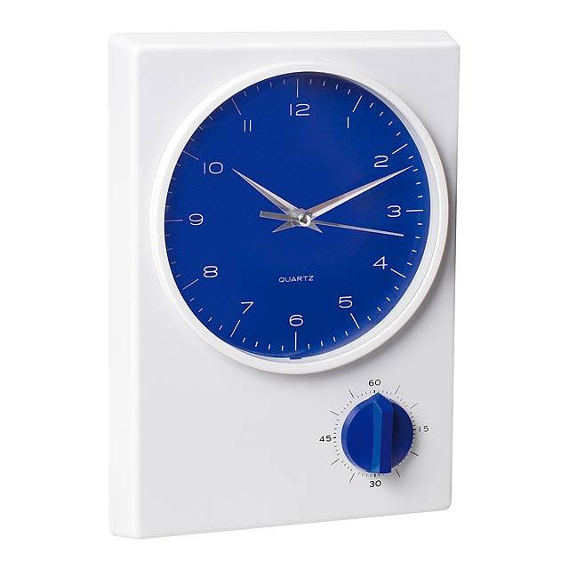 Tekel stolní hodiny - modrá