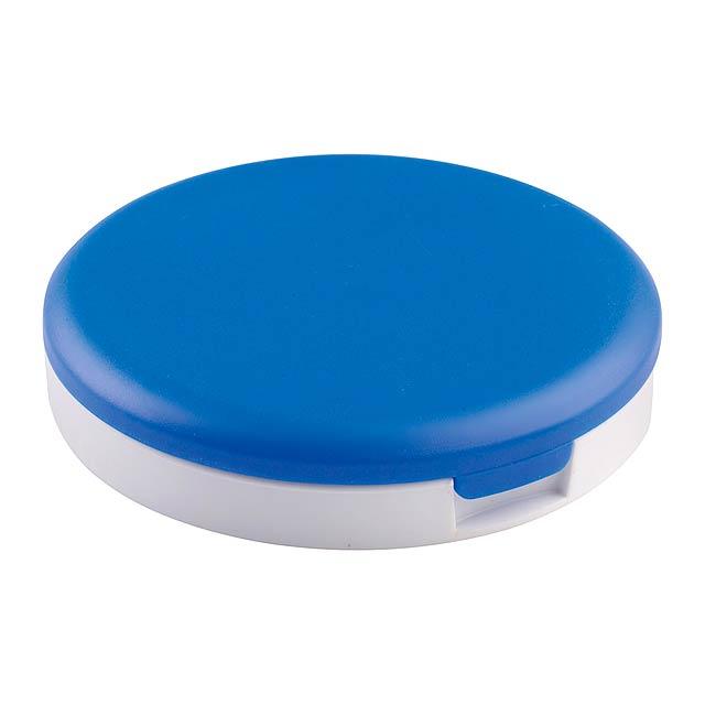Senet stojánek na mobil se zrcátkem - modrá