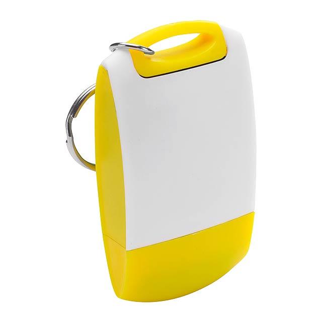 Kiur klíčenka s čistítkem na obrazovky - žlutá