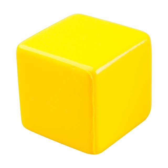 Kubo antistresová kostka - žlutá