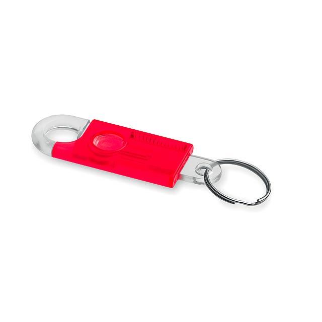 Fallet klíčenka - červená