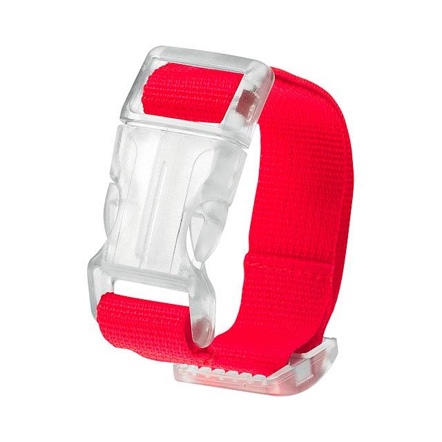 Kuyax popruh na zavazadla - červená