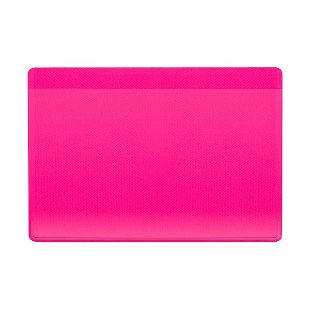 Kazak obal na kreditní karty - fuchsiová (tm. růžová)