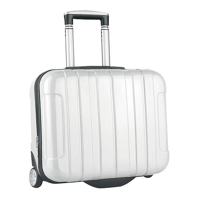 Sucan kufr na kolečkách - bílá