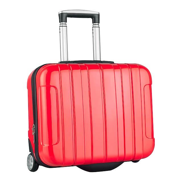 Sucan kufr na kolečkách - červená