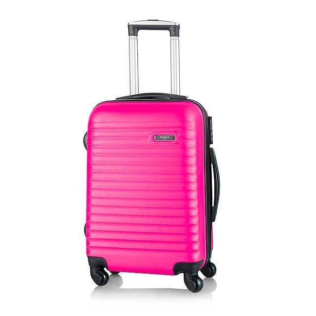 Rumax kufr na kolečkách - fuchsiová (tm. růžová)