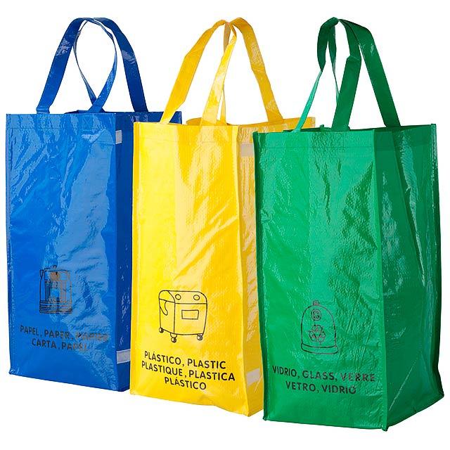 Lopack tašky pro recyklaci odpadů - žlutá