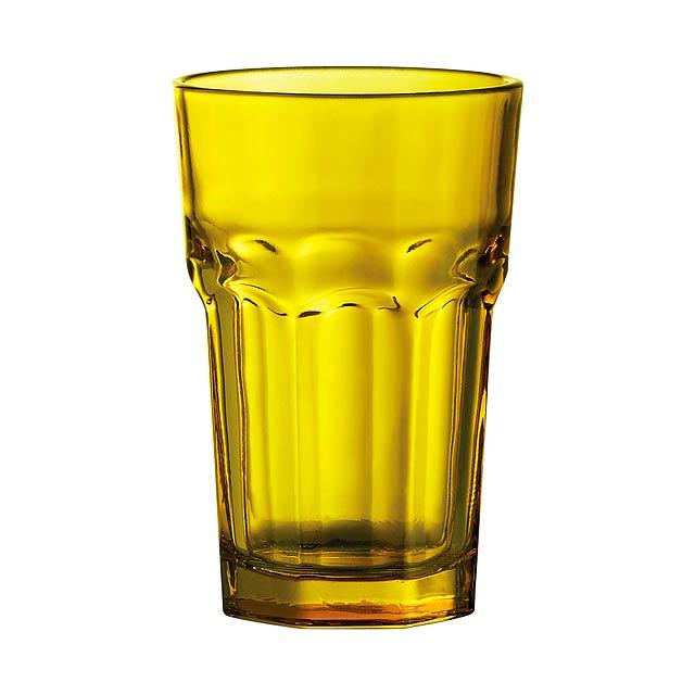 Kisla skleničky na pití - žlutá