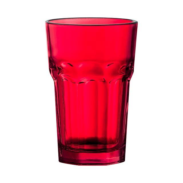 Kisla skleničky na pití - červená
