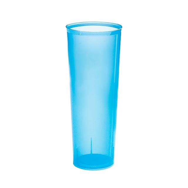 Pevic kelímek - transparentní modrá