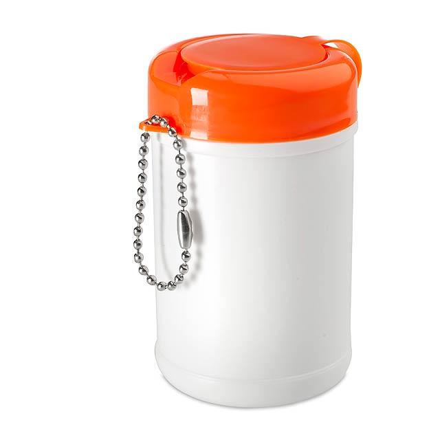 Narut čistící ubrousky na ruce - oranžová