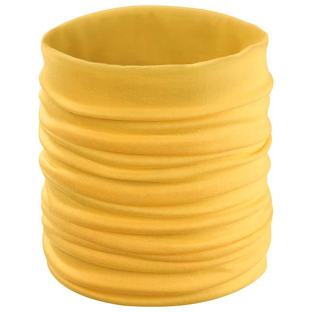 Cherin víceúčelový šátek - žlutá