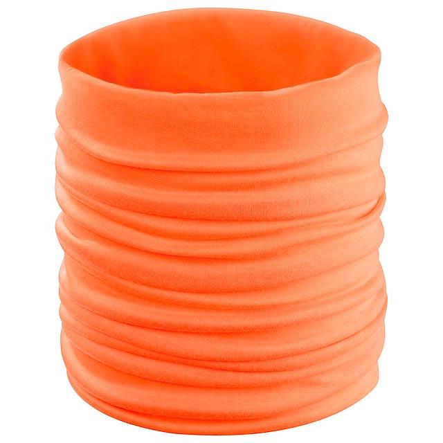 Cherin víceúčelový šátek - oranžová