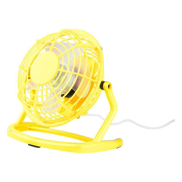 Miclox mini větrák - žlutá