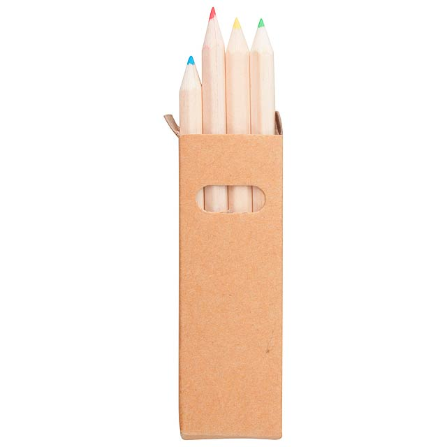 Set of 4 crayons - beige
