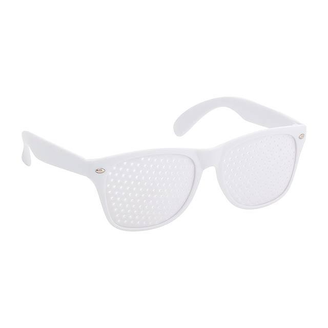 Zamur brýle na párty - bílá