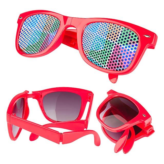 Stifel skládací sluneční brýle - červená