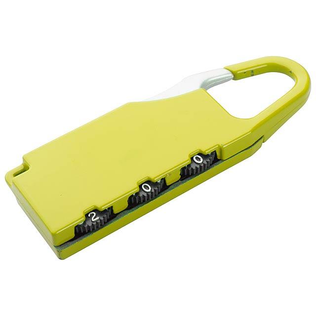 Zanex zámek na zavazadlo - žlutá
