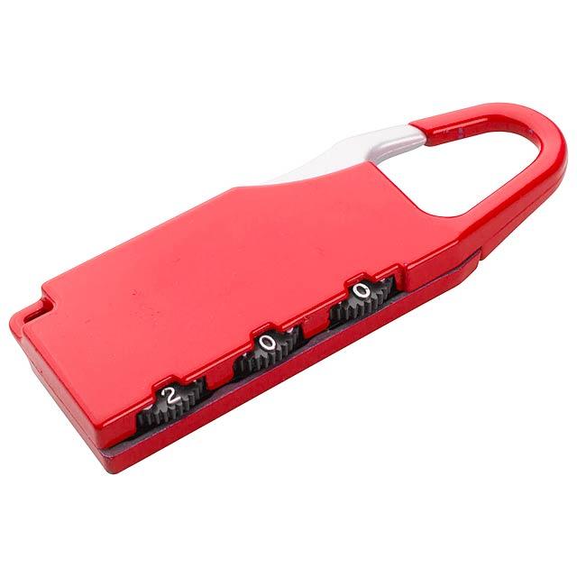 Zanex zámek na zavazadlo - červená