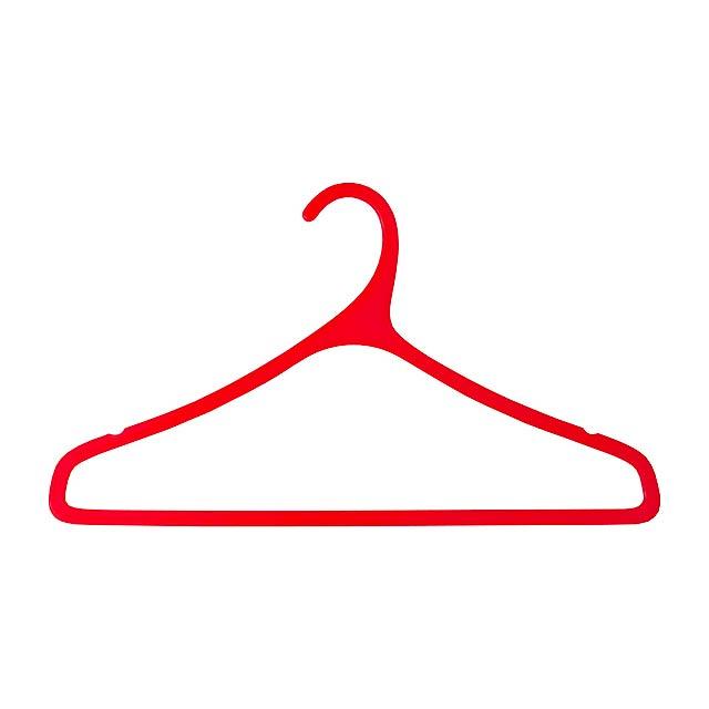 Merchel věšák - červená