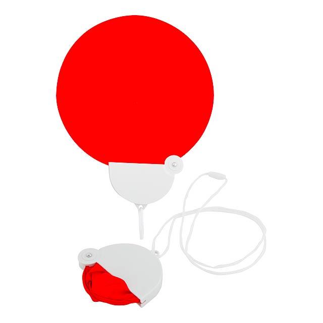 Liyox skládací vějíř - červená