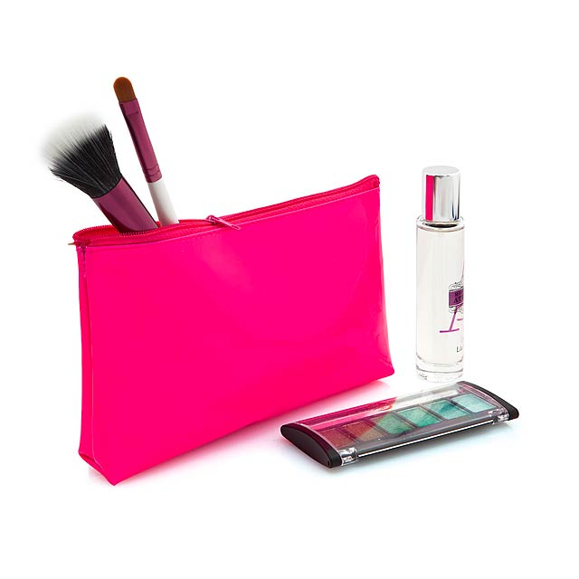 Valax kosmetická taška - fuchsiová (tm. růžová)