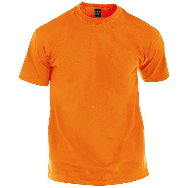Tričko s kulatým výstříhem ze 100% bavlny, 150g/m². - oranžová - foto