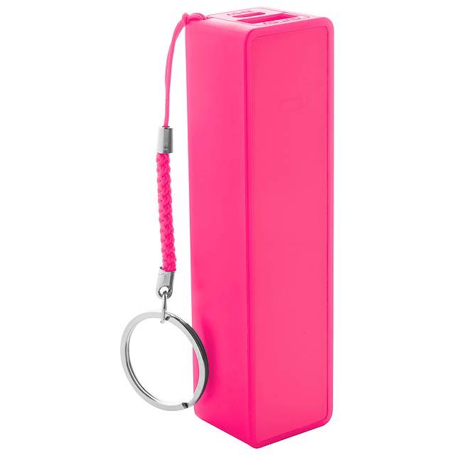 Kanlep USB power banka - fuchsiová (tm. růžová)