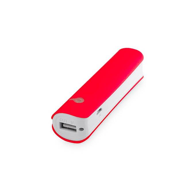 Hicer USB power bank - červená