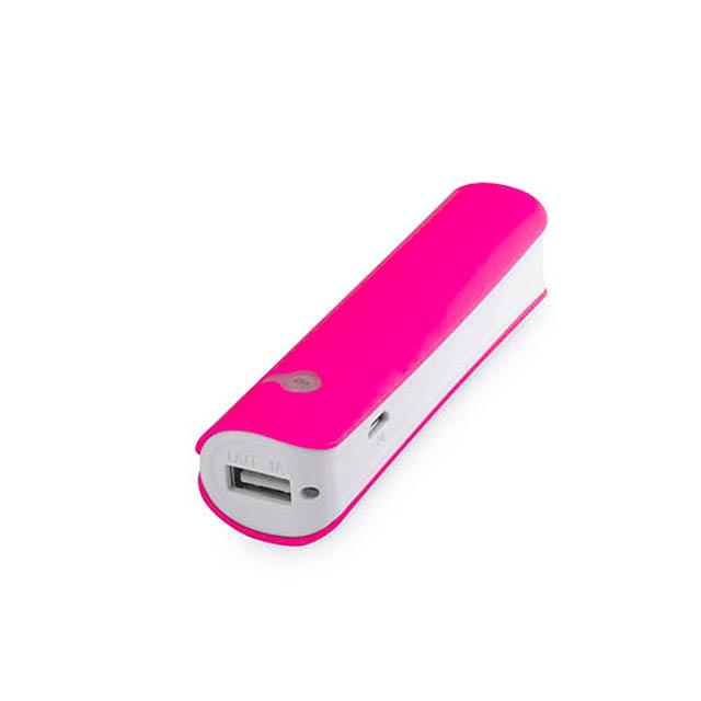Hicer USB power bank - fuchsiová (tm. ružová)