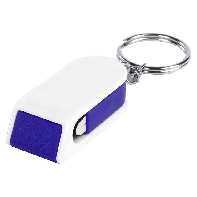 Satari stojánek na mobil s přívěškem na klíče - modrá